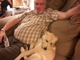 seamus and Jack, watching tv