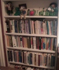 Just a few of my books on one bookshelf. I'm a biblio-girl!